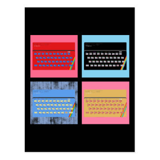 Pop Art ZX Spectrum Postcard