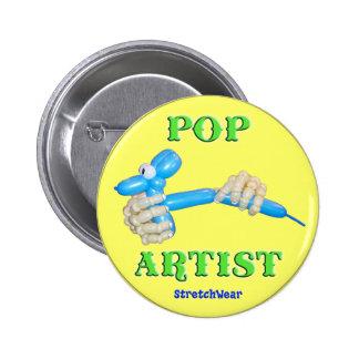 Pop Artist Balloon Dog 2 Inch Round Button