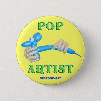 Pop Artist Balloon Dog Pinback Button