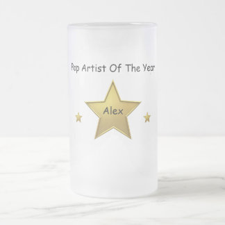 Pop Artist Of The Year-Alex Frosted Glass Beer Mug