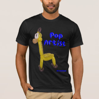 Pop Artist Shirt with Balloon Giraffe