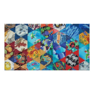 Pop Arts Patchwork Pattern Poster
