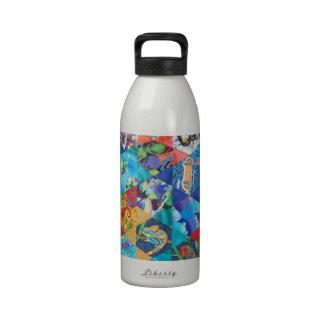 Pop Arts Patchwork Pattern Water Bottle
