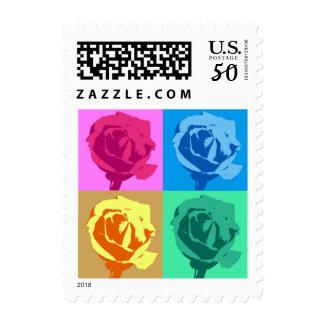 Pop Artsy Roses Postage