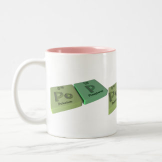Pop as Po Polonium and P Phosphorus Two-Tone Coffee Mug
