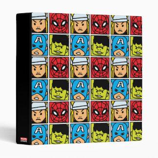 Pop Avengers Character Block Pattern 3 Ring Binder
