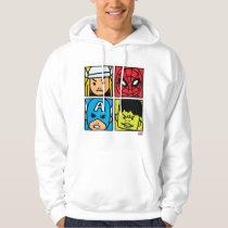 Pop Avengers Character Block Pattern Hoodie