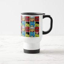 Pop Avengers Character Block Pattern Travel Mug