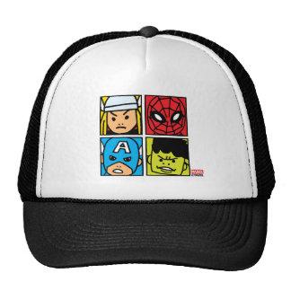 Pop Avengers Character Block Pattern Trucker Hat