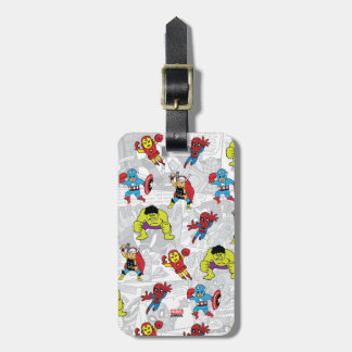 Pop Avengers Comic Book Pattern Luggage Tag