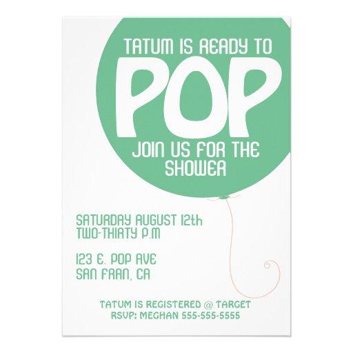 POP Baby Shower Invitation
