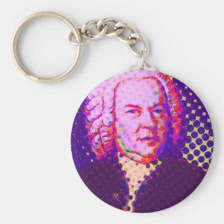 Pop Bach Basic Round Button Keychain