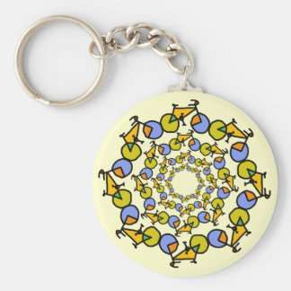 pop bicycles in circles keychain