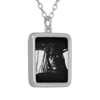 pop blacq square pendant necklace