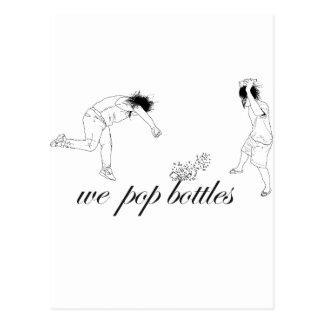 Pop Bottles Postcard