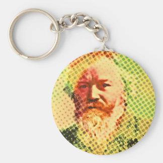 Pop Brahms Basic Round Button Keychain