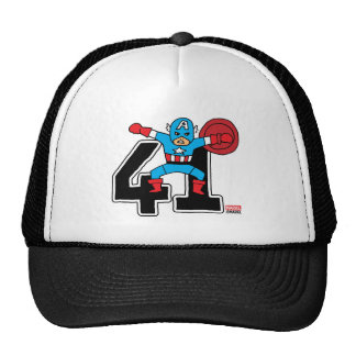 Pop Captain America 41 Trucker Hat