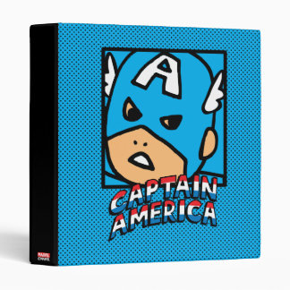 Pop Captain America Character Block with Logo 3 Ring Binder