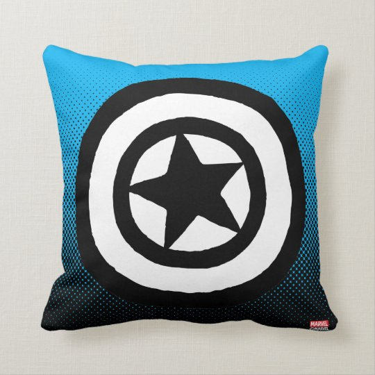 Pop Captain America Logo Throw Pillow Zazzle Com