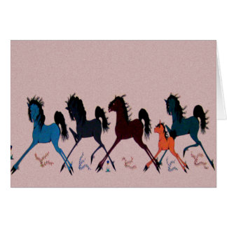 Pop Chalee Horse Mural Greeting Card