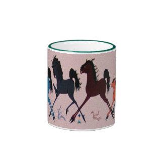 Pop Chalee Horse Mural Ringer Coffee Mug