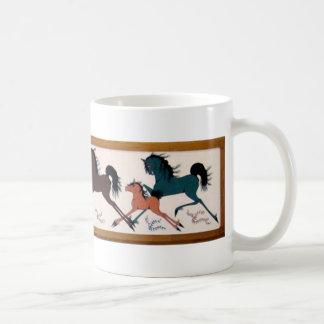 Pop Chalee Horse Mural Classic White Coffee Mug