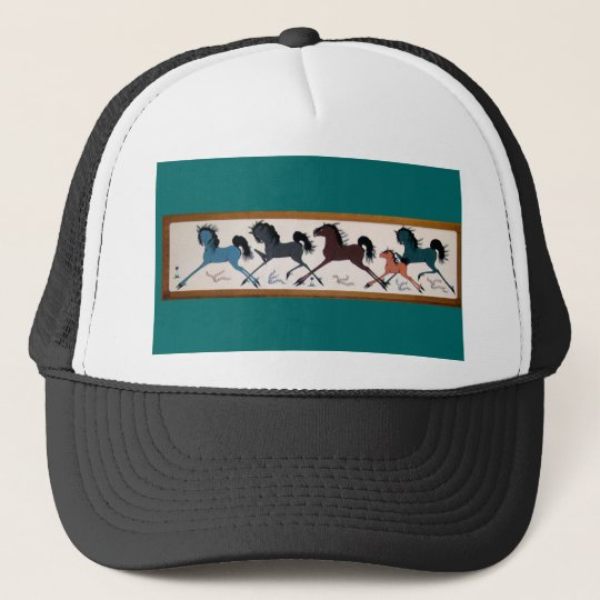 Pop Chalee Horse Mural Trucker Hat