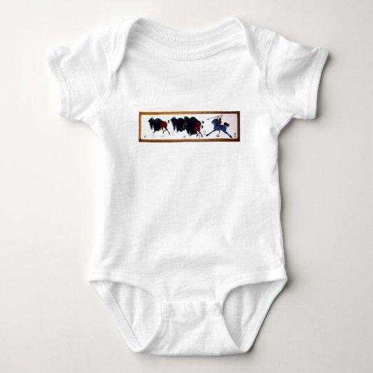 Pop Charlee Buffalo Hunting Mural Baby Bodysuit