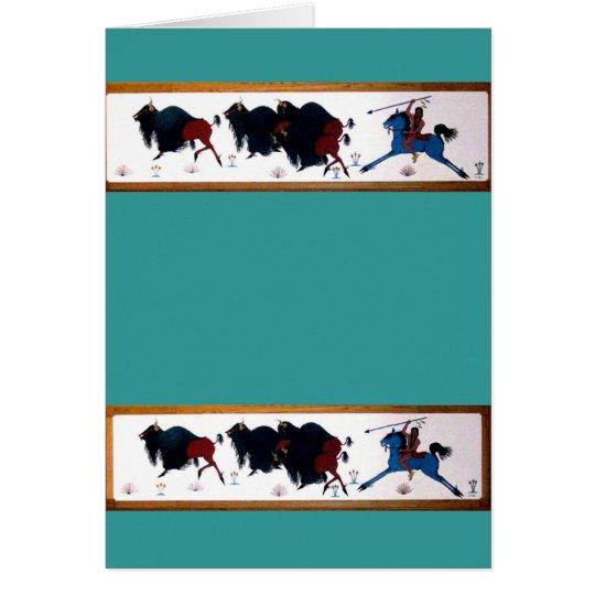 Pop Charlee Buffalo Hunting Mural Card