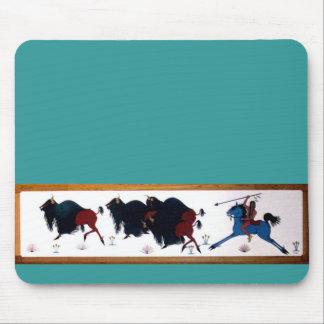 Pop Charlee Buffalo Hunting Mural Mouse Pad