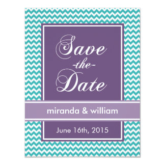 Pop Chevron Save The Date Cards