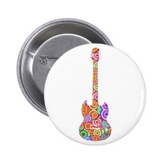Pop Circles Guitar Logo Buttons