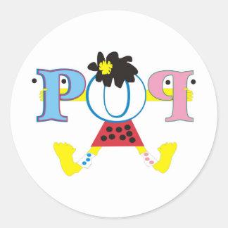POP CLASSIC ROUND STICKER