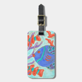 Pop-Colored Fish Bag Tag