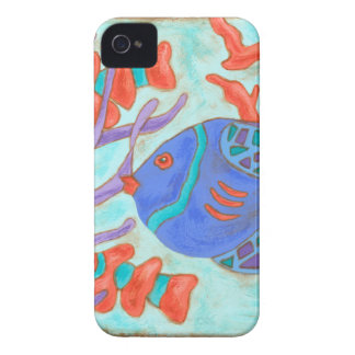 Pop-Colored Fish iPhone 4 Cover