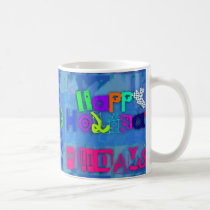 Pop Colorful Happy Holidays Mug