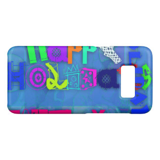 Pop Colorful Happy Holidays Samsung Case