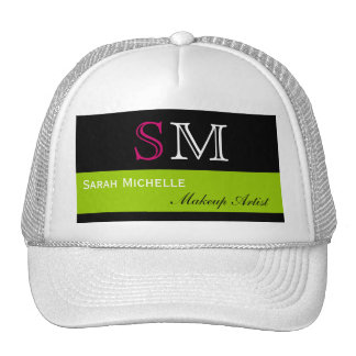 Pop Colors in Pink Green and Black Trucker Hat