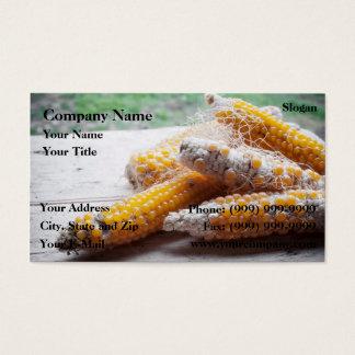 Pop corn cobs business card