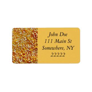 Pop Corn Kernels Label