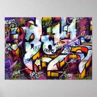 Pop Culture Graffiti Urban Street Art Poster