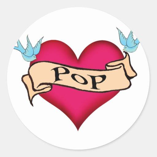 Pop custom heart tattoo t shirts gifts stickers zazzle for Custom tattoo stickers