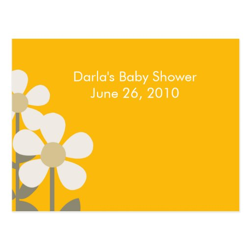 POP Daisy YELLOW Baby Shower Advice Cards