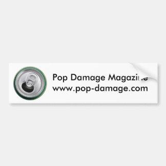 Pop Damage Bumper Sticker