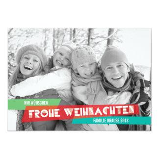Pop der Farbe Weihnachtskarte Card