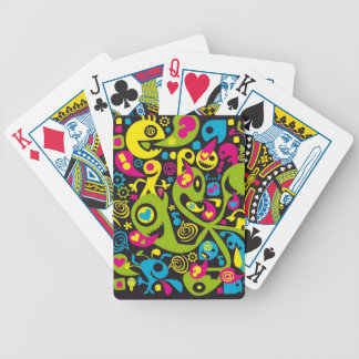 pop design tendency color abstracts communication bicycle playing cards
