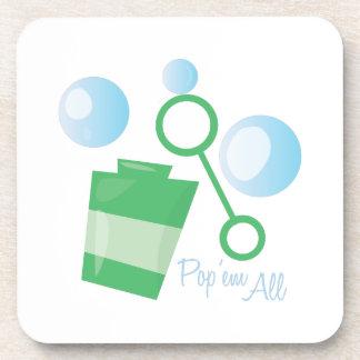 Pop Em All Drink Coasters