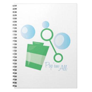 Pop Em All Notebooks