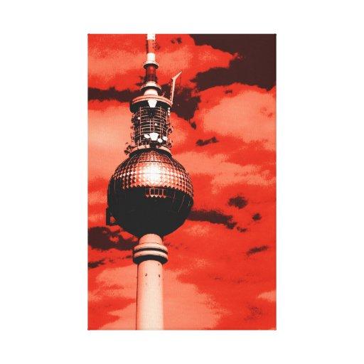 Pop especie Berlín TV Tower Lona Estirada Galerías