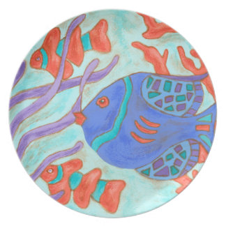 Pop Fish Melamine Plate